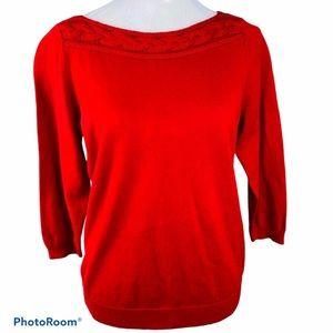 Liz Claiborne Ribbed Boat Neck Sweater Size Large